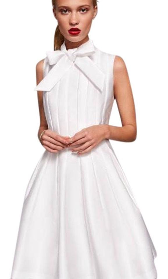 fd135398a53780 Ted Baker Natural Doora Bow Neck Tie Mid-length Formal Dress Size 6 (S)