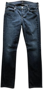 Citizens of Humanity Low Rise Straight Leg Jeans-Dark Rinse