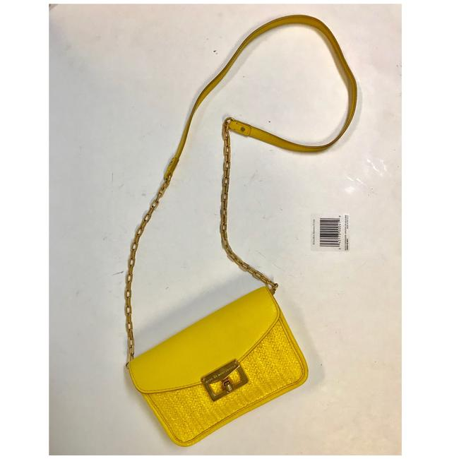 Item - Free Shipping Yellow Leather Cross Body Bag