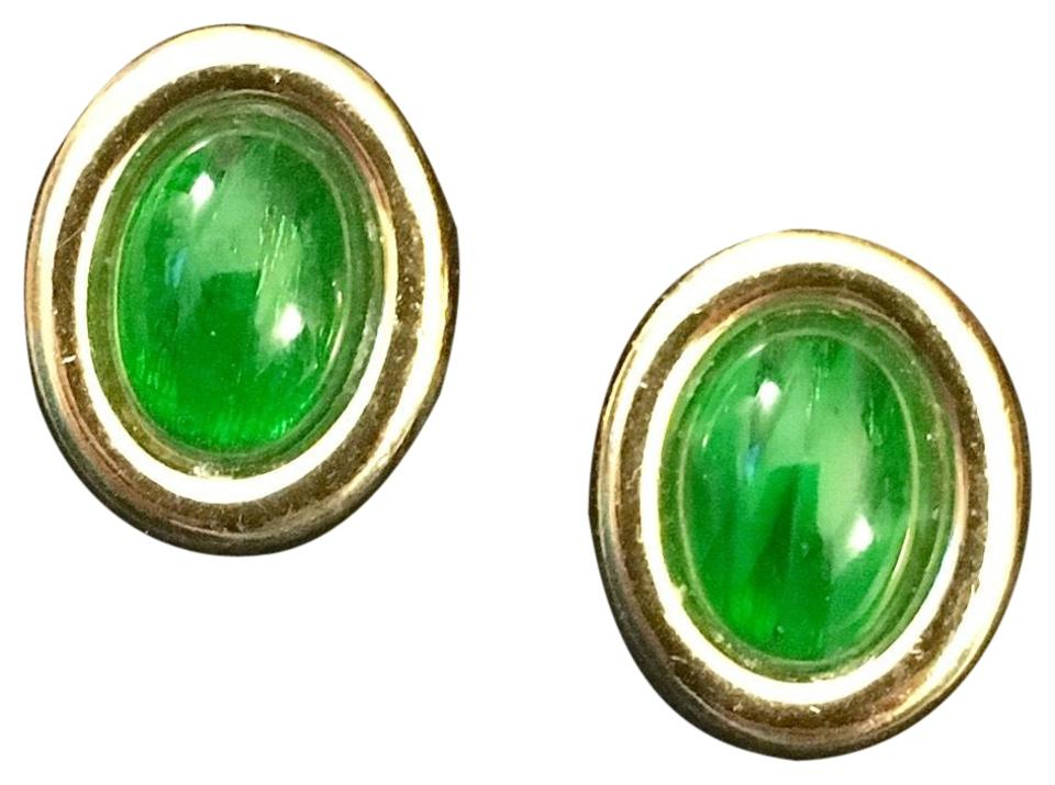green i earrings tradesy stone earring dior