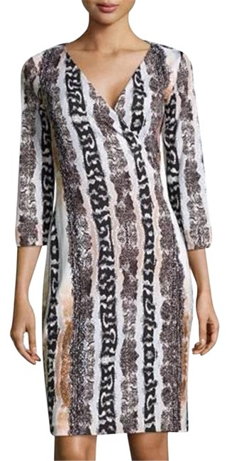 Item - Multicolor Jersey Dvf New Julian Two Silk Wrap Oasis Snake Print Mid-length Casual Maxi Dress Size 8 (M)