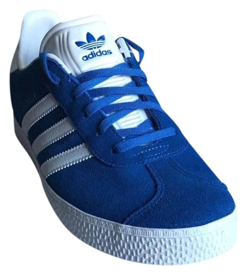 76077e3942c adidas Royal Blue White Gazelle Suede Sneaker Sneakers Size US 8.5 ...