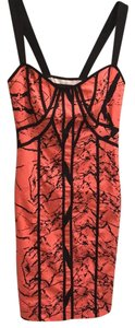 Factory by Erik Hart short dress Coral/Black on Tradesy