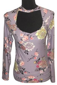 Eye Candy Los Angeles Top Lavender with Floral Print