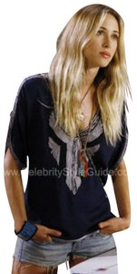 Free People Embroidered Cut-out Tunic