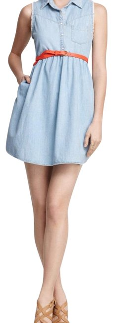 Item - Blue Mid-length Short Casual Dress Size 2 (XS)