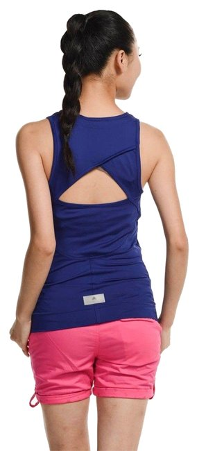 Item - Blue Indigo Athletic Cut Out Back Activewear Top Size 2 (XS, 26)