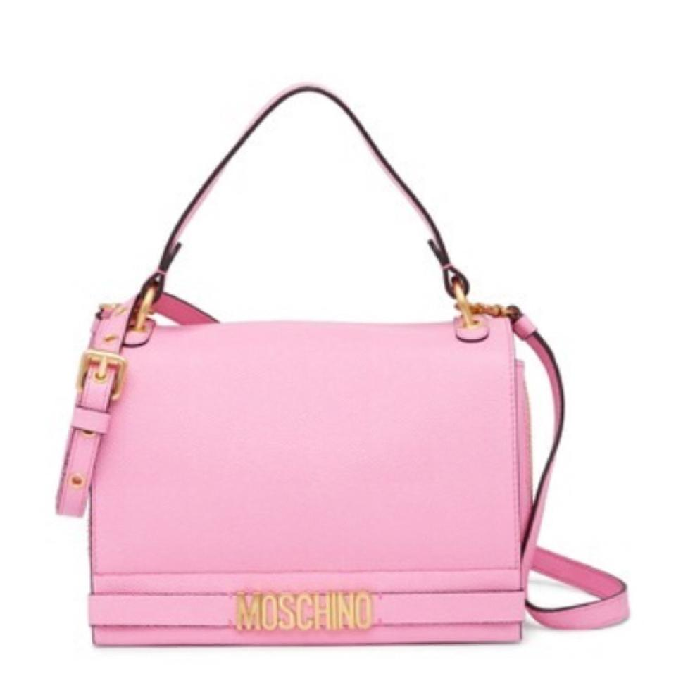 94e08de5418cc Moschino Shoulder Pink Leather Cross Body Bag - Tradesy