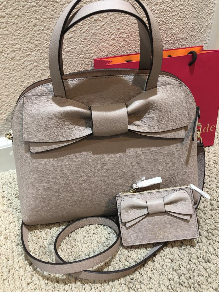 27b6e4092f43 Kate Spade Olive Drive Lottie Satchel Maise Purse Pxru8441 Bone Grey  Leather Shoulder Bag 31% off retail