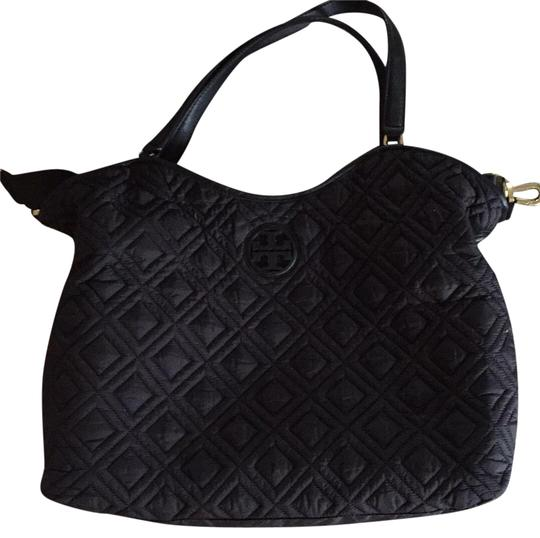 Tory Burch Black Quilted Diaper Bag Tradesy