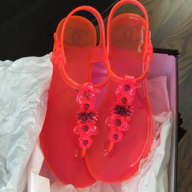 Chanel Pink Jelly Pvc Thongs Flats Sandals Size EU 37 (Approx. US 7) Regular (M, B) Chanel Pink Jelly Pvc Thongs Flats Sandals Size EU 37 (Approx. US 7) Regular (M, B) Image 9
