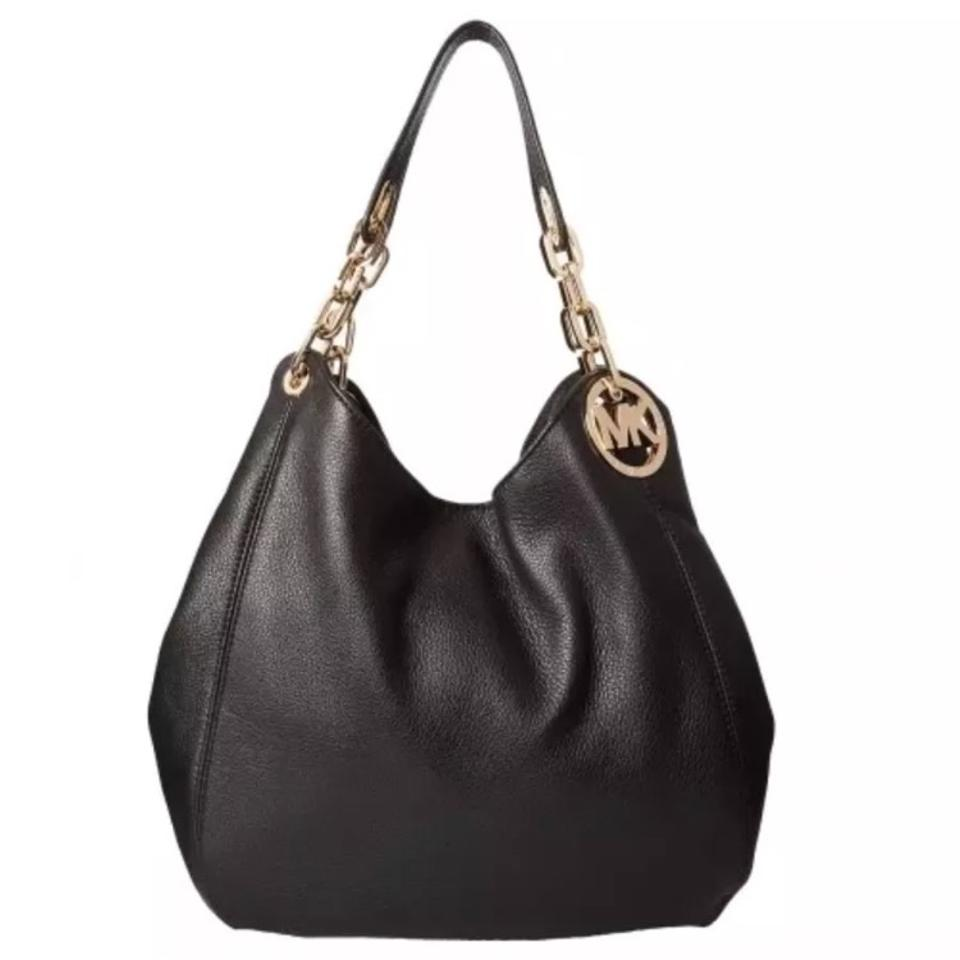 Michael Kors Fulton Large Black Leather Hobo Bag - Tradesy 27265812dcd27