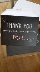 Thank You From The Soon To Be Mrs Cards