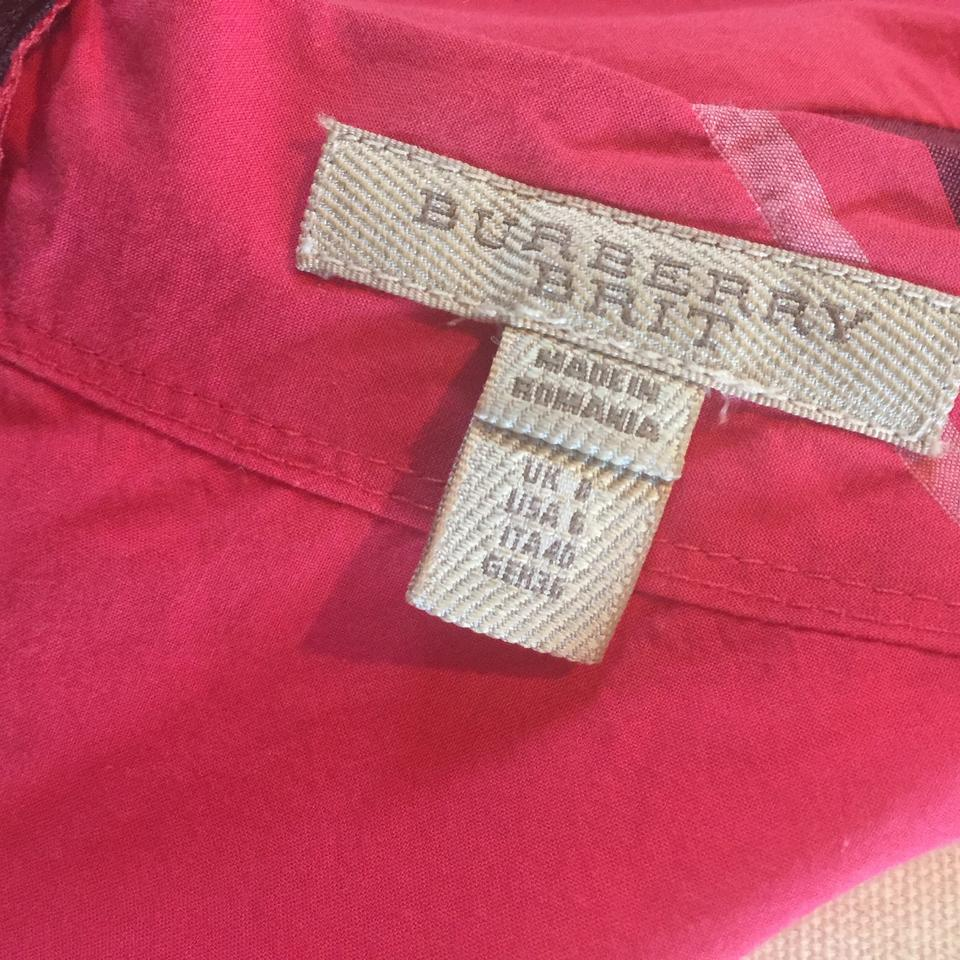 4890742c539d Burberry Brit short dress Red (Multi) Margaux Check Cotton on Tradesy Image  8. 123456789