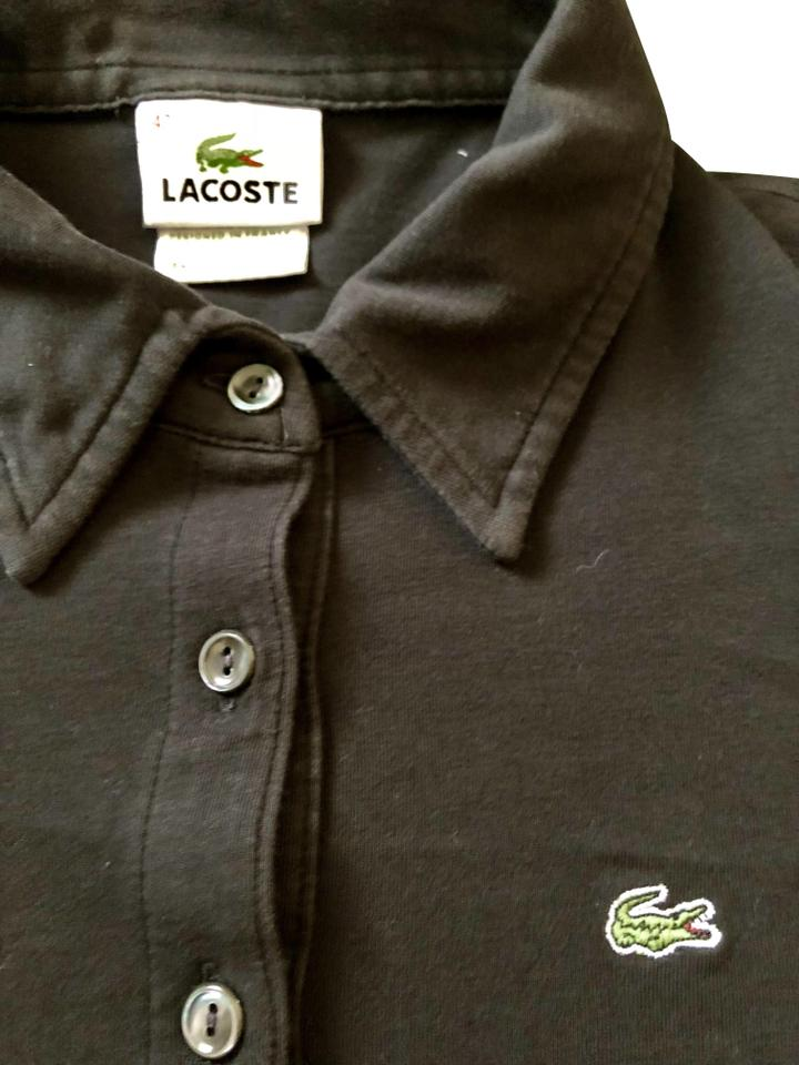 e65fc806f Lacoste Black Long-sleeved Polo Cotton Knit Button-down Top. Size  10 (M)  ...