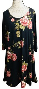 French Atmosphere short dress Black Floral on Tradesy