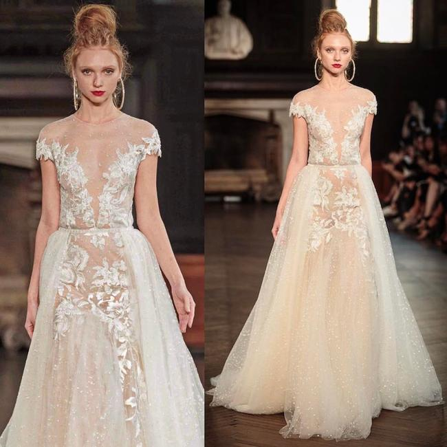 Item - Blush Embroidered Lace and Tulle 17-132 Sexy Wedding Dress Size 6 (S)