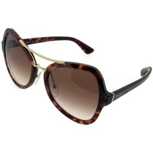 Prada PR18SS-UE00A6 Women's Brown Frame Brown Lens Genuine Sunglasses