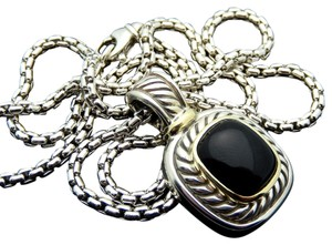 David Yurman David Yurman LARGE Onyx Necklace in Sterling Silver & Gold