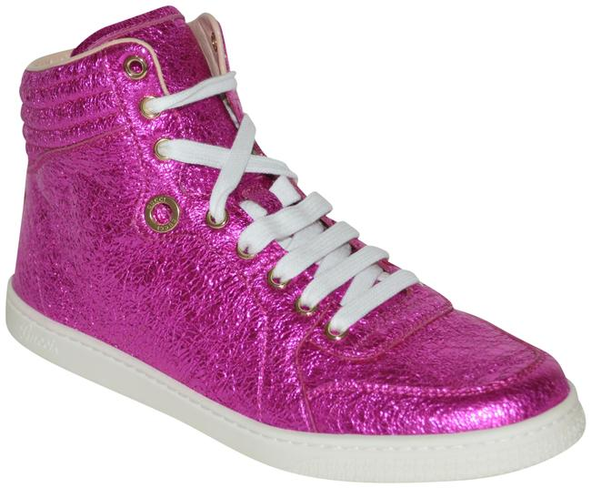 Item - Pink Womens Leather Hitop Leather Eu 38 Sneakers Size US 8 Regular (M, B)