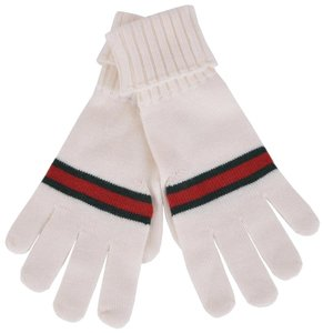 Gucci Gucci Men's White Wool With Green Red Web Stripe 294732