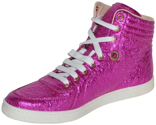 Item - Pink Womens Leather Hitop Leather Eu 37.5 Sneakers Size US 7.5 Regular (M, B)