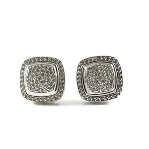 David Yurman David Yurman Sterling Silver 1.20tcw 11mm Pave Diamond Albion Earrings