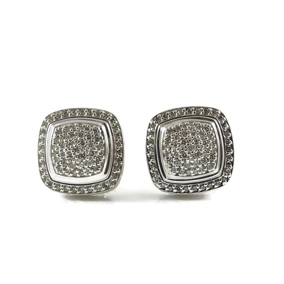 David Yurman Sterling Silver 1 20tcw 11mm Pave Diamond Albion Earrings