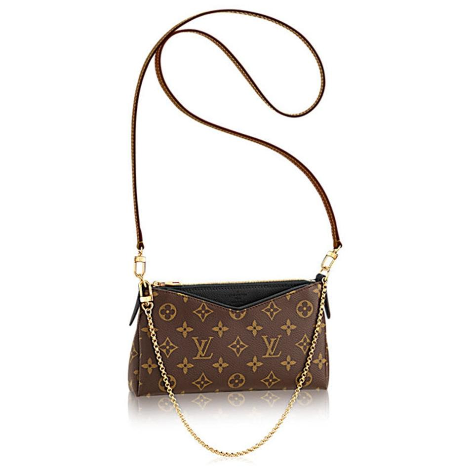 louis vuitton pallas clutch monogram 2018 black canvas cross body bag tradesy. Black Bedroom Furniture Sets. Home Design Ideas