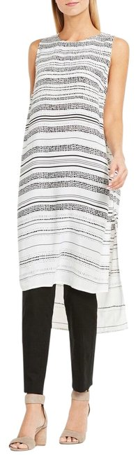 Item - White Black New with Tags Stripped Sleeveless High Low Tunic Classic Summer Mid-length Casual Maxi Dress Size 8 (M)