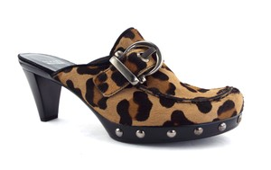 Stuart Weitzman Pony Hair Animal Print Studded Leopard Pumps