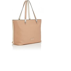 Marc by Marc Jacobs East / West Colorblock Smooth Leather / Tote in Beige / Light Beige