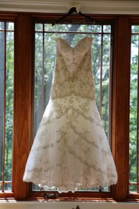Mori Lee Ivory 2801 Traditional Wedding Dress Size 14 (L)