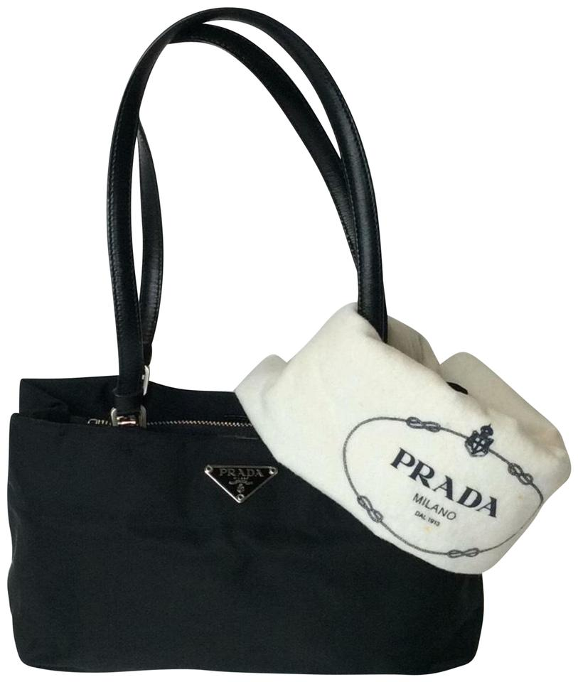 7e9bcdab0d Prada Small Tote Black Nylon Shoulder Bag - Tradesy