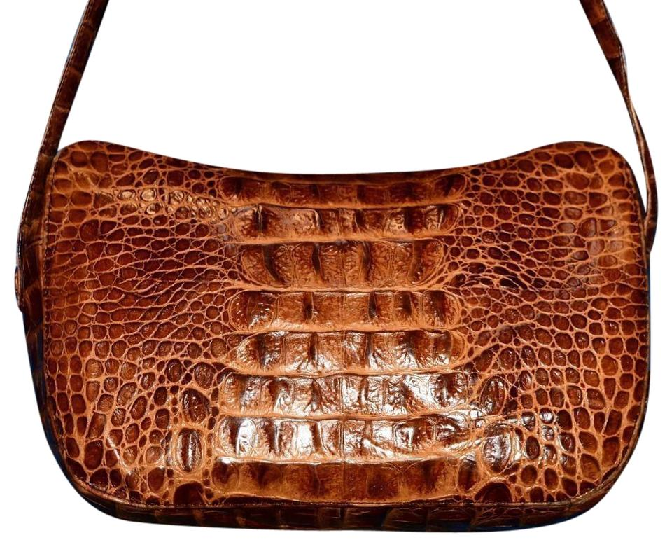 91b19ea6f931 Desmo Vintage Purses Designer Purses Crocodile Embossed Leather In Shades  Of Brown Hobo Bag