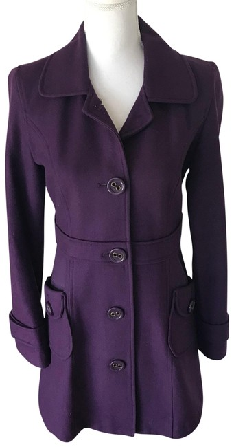 Item - Purple Nordstrom Double Breasted Wool Blend Coat Size 8 (M)