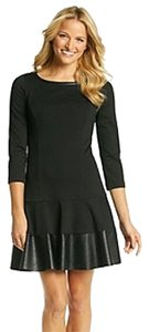 Jessica Simpson short dress Black Leather Trim Drop Waist Lbd on Tradesy
