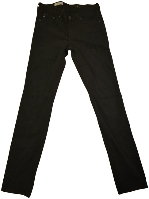 Item - Sateen Black Dark Rinse The Stilt Cigarette Straight Leg Jeans Size 26 (2, XS)