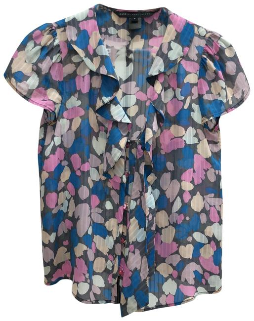 Preload https://img-static.tradesy.com/item/23057686/marc-by-marc-jacobs-pastel-pink-nude-blue-light-grey-and-dark-grey-floral-abstract-silk-short-sleeve-0-2-650-650.jpg