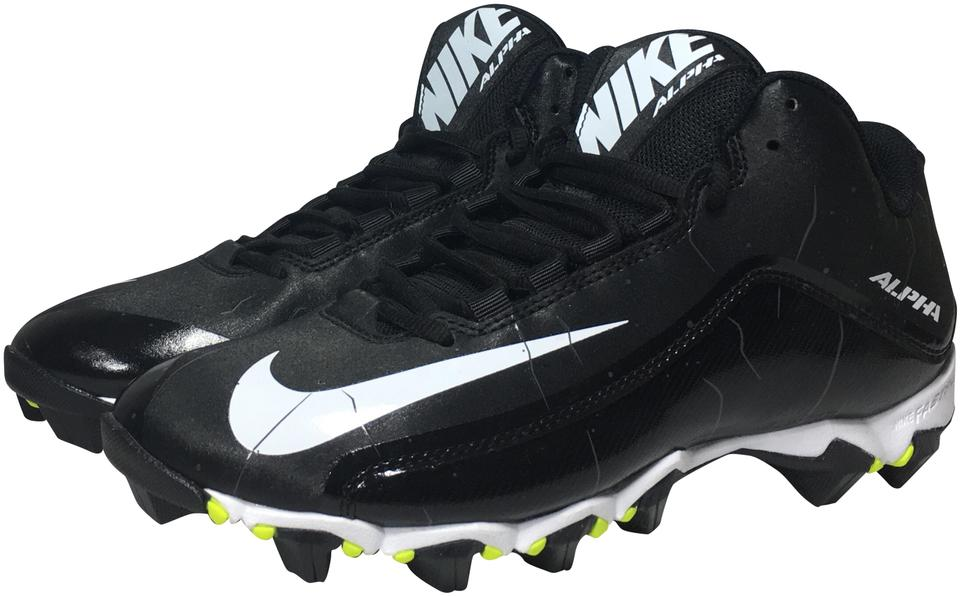 sneakers for cheap ec492 9ad83 Nike Black White Men s Alpha Shark 2 3 4 Football Cleats 719952-002 Sneakers