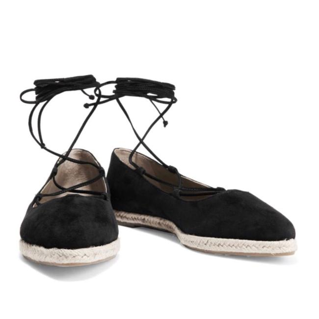 Item - Black Espadrilles Flats Size US 8.5 Regular (M, B)