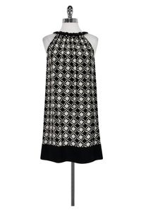 Shoshanna short dress Black & White Print on Tradesy
