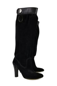 Michael Kors Leather Slouchy Black Boots