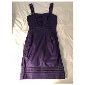 Zac Posen short dress purple Bow Ruffle Eyelet Seems on Tradesy