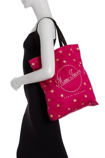 Marc Jacobs Dual Top Handles Open Top No Inner Pockets / Shopper Tote in PInk Image 5