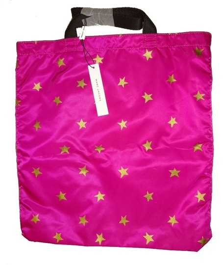 Marc Jacobs Dual Top Handles Open Top No Inner Pockets / Shopper Tote in PInk Image 7