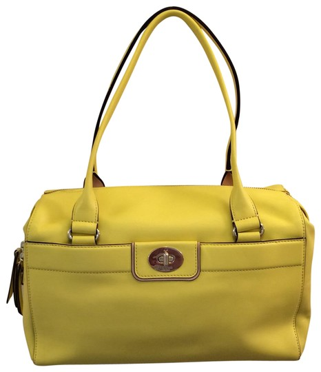 Preload https://img-static.tradesy.com/item/23058367/kate-spade-hampton-road-collette-yellow-leather-satchel-0-1-540-540.jpg