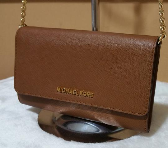 Michael Kors Black Leather Cross Body Bag Image 7
