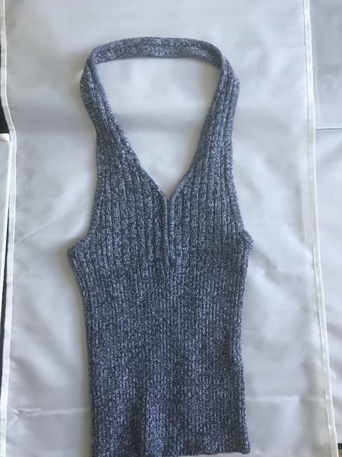 Guess Knit Denim New blue Halter Top Image 1