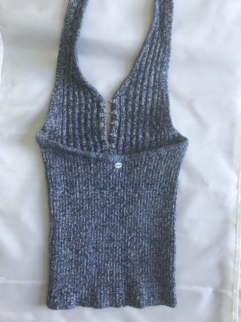 Guess Knit Denim New blue Halter Top Image 2